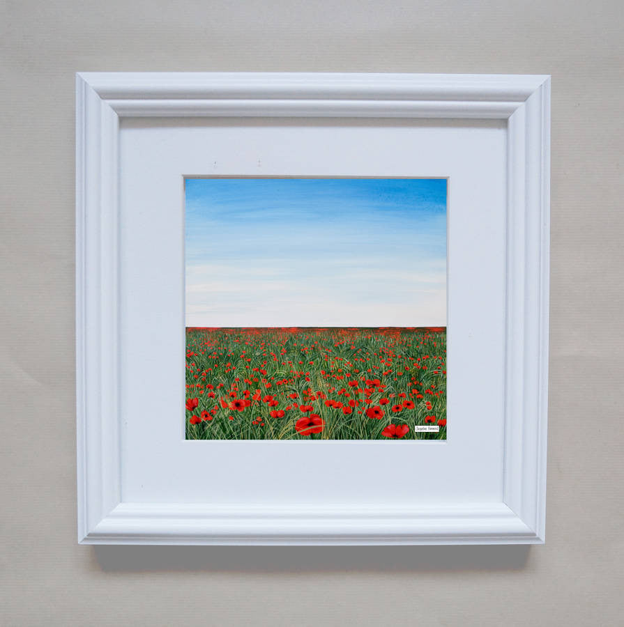 Print Of Painting Poppies In Green Grass by Jacqueline Hammond  Smart Deco Homeware Lighting and Art by Jacqueline hammond