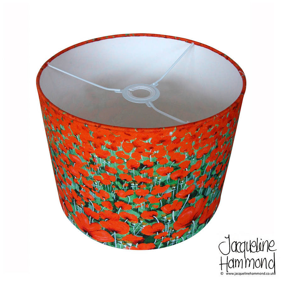Lampshade - Blowing Poppies  Smart Deco Homeware Lighting and Art by Jacqueline hammond