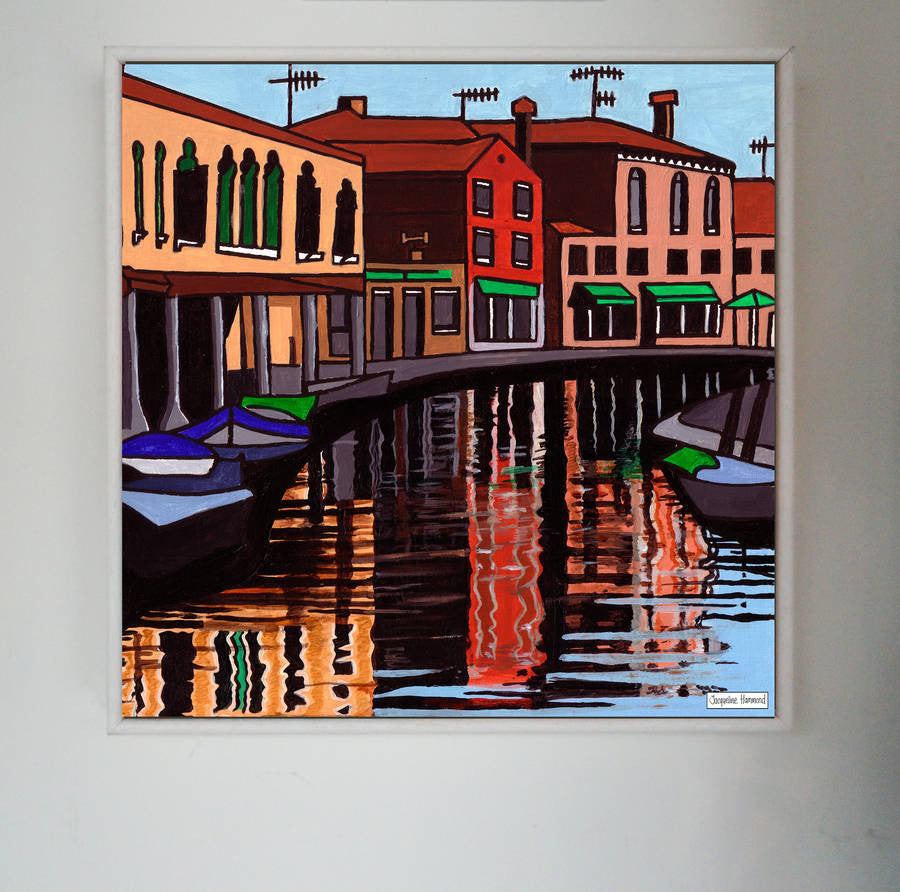 Print Of Painting Venice One By Jacqueline Hammond  Smart Deco Homeware Lighting and Art by Jacqueline hammond