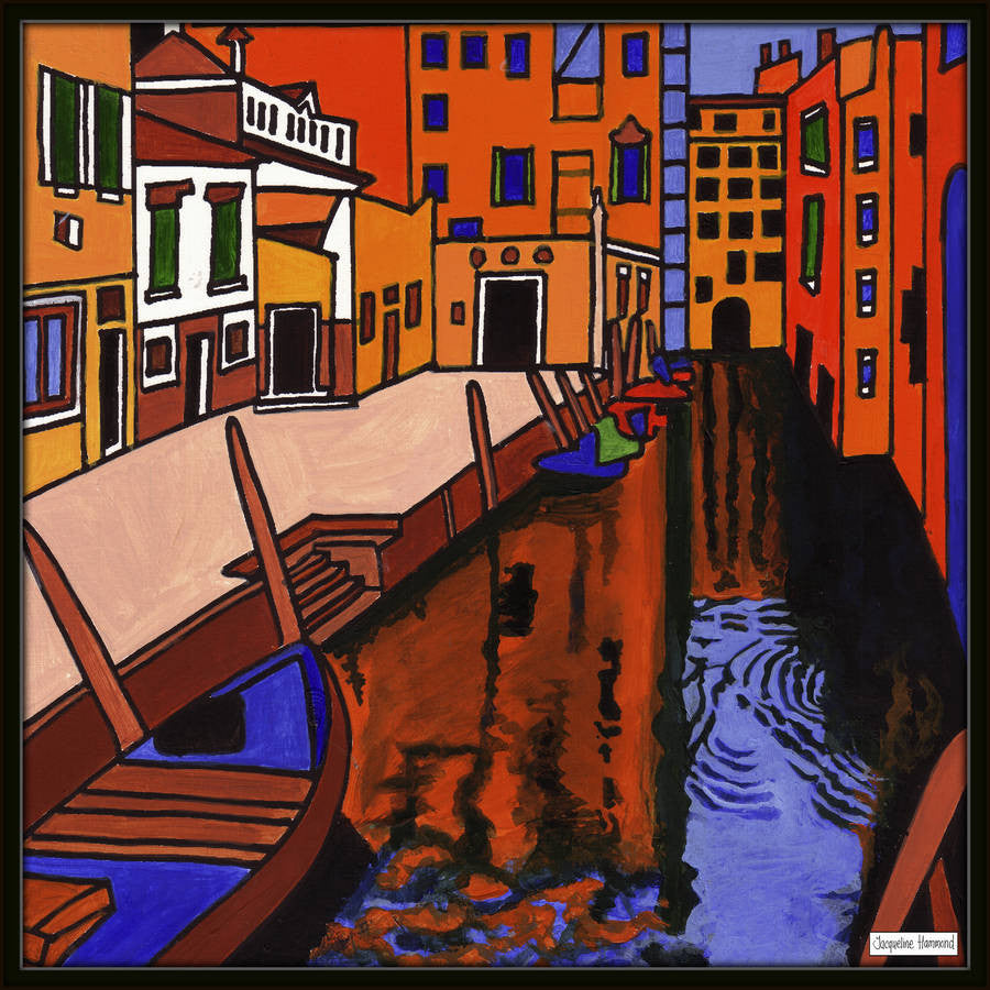 Print - Painting Venice Two by Jacqueline Hammond  Smart Deco Homeware Lighting and Art by Jacqueline hammond