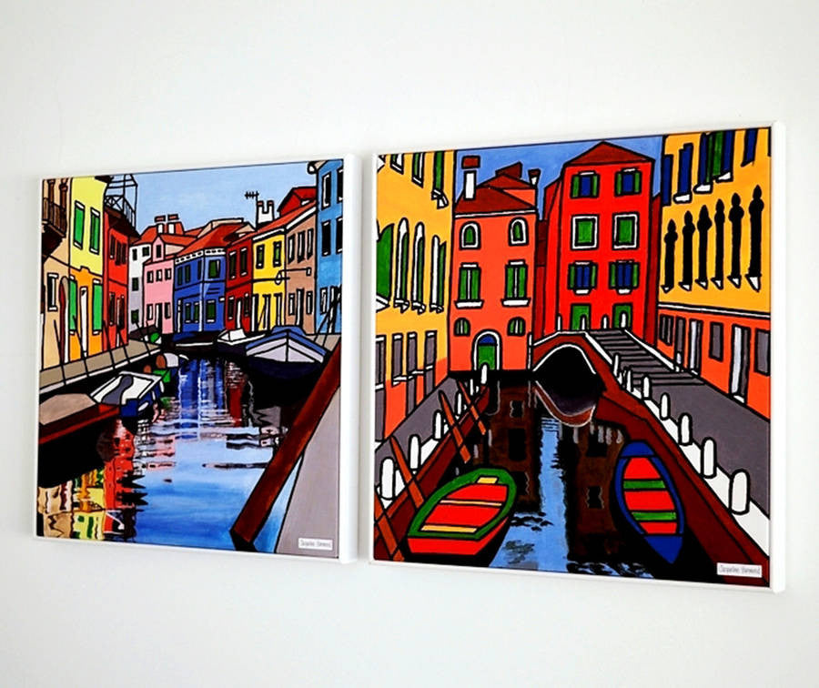 Print Of Painting Venice Four By Jacqueline Hammond  Smart Deco Homeware Lighting and Art by Jacqueline hammond