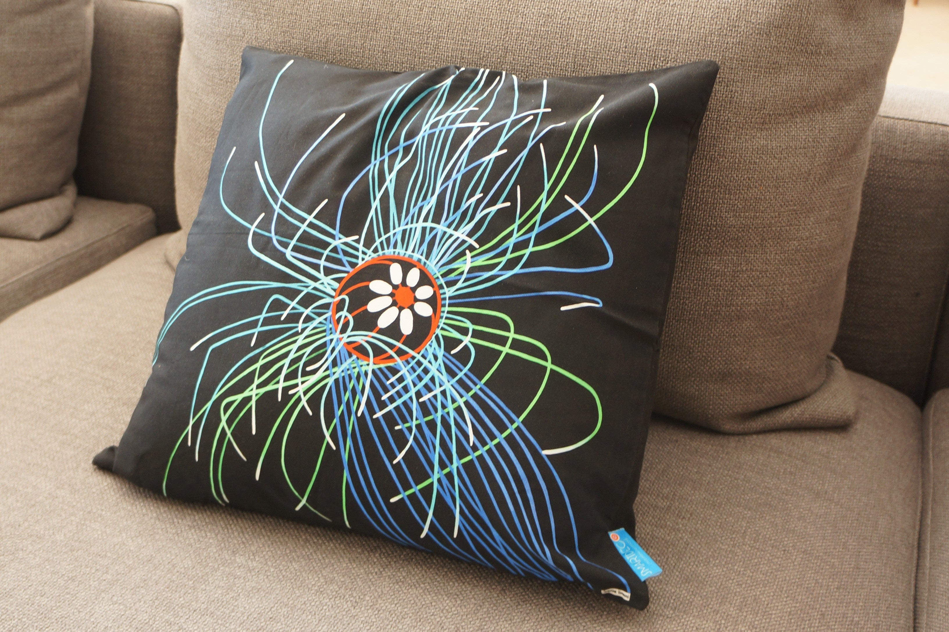 Luxury Cushion Cover - Ultraviolet Jellyfish Art Print