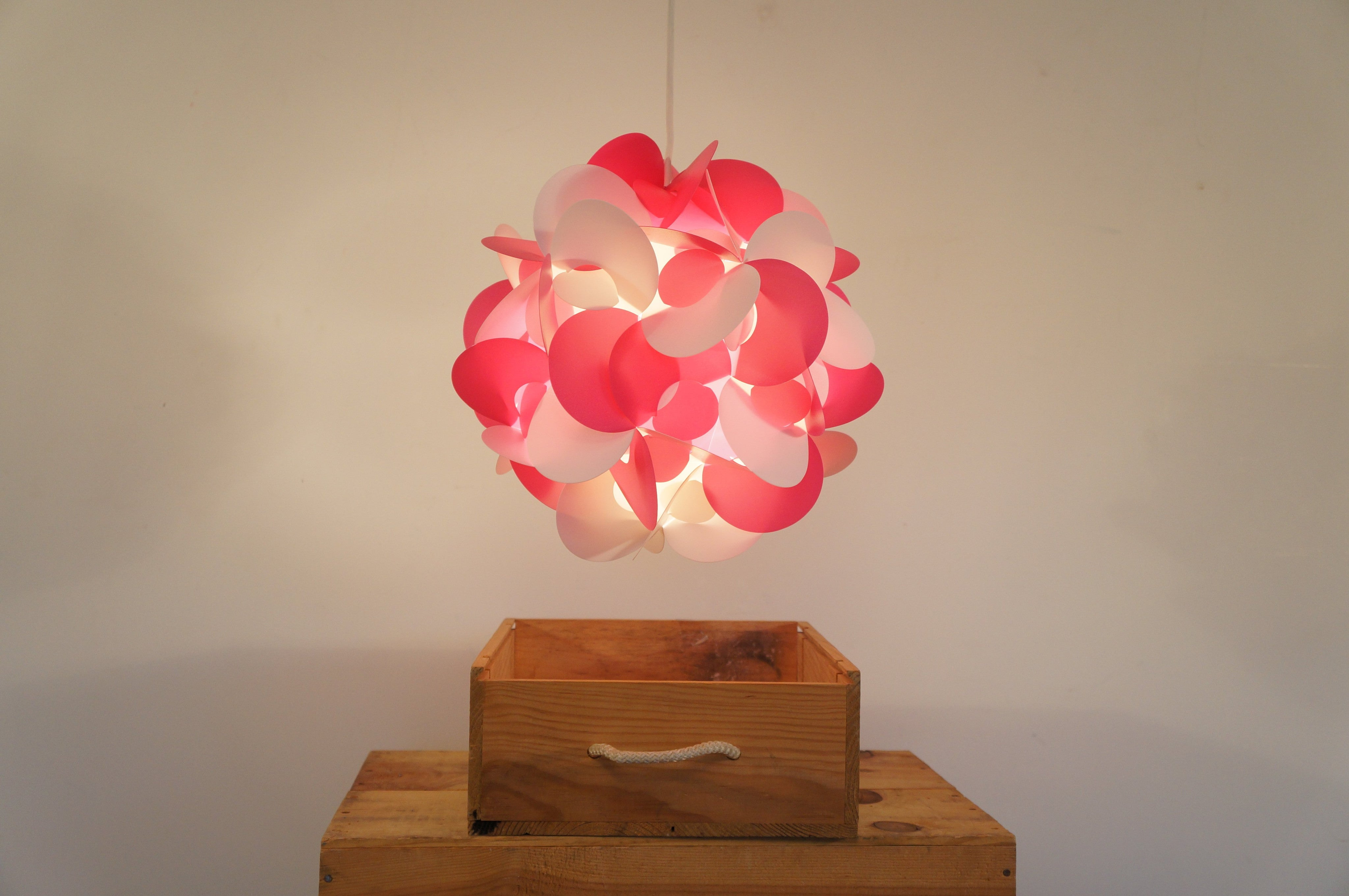 Curve Light Shade In Pink And White  Smart Deco Homeware Lighting and Art by Jacqueline hammond