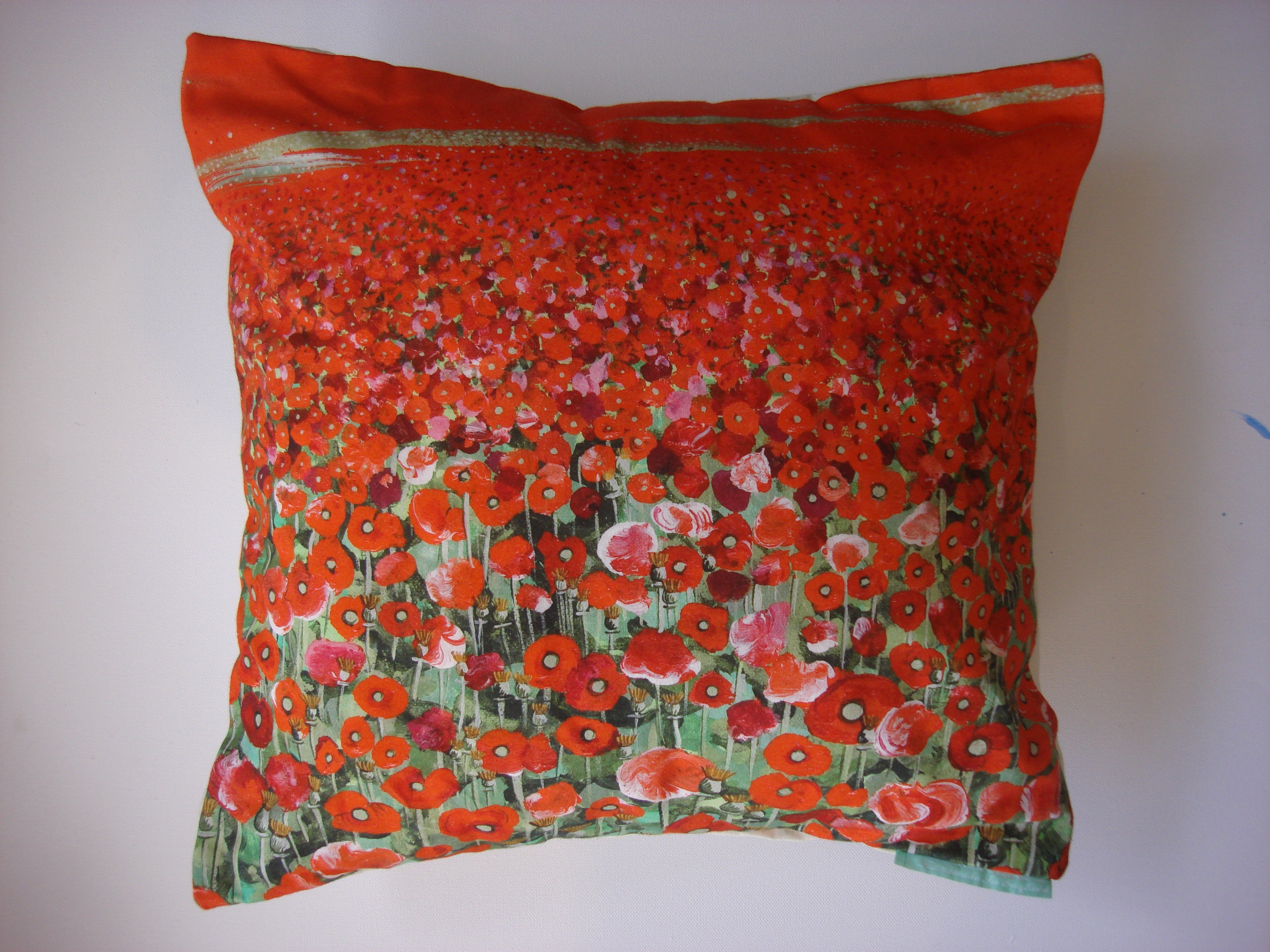Luxury Cushion Cover - Poppy Fields Print  Smart Deco Homeware Lighting and Art by Jacqueline hammond