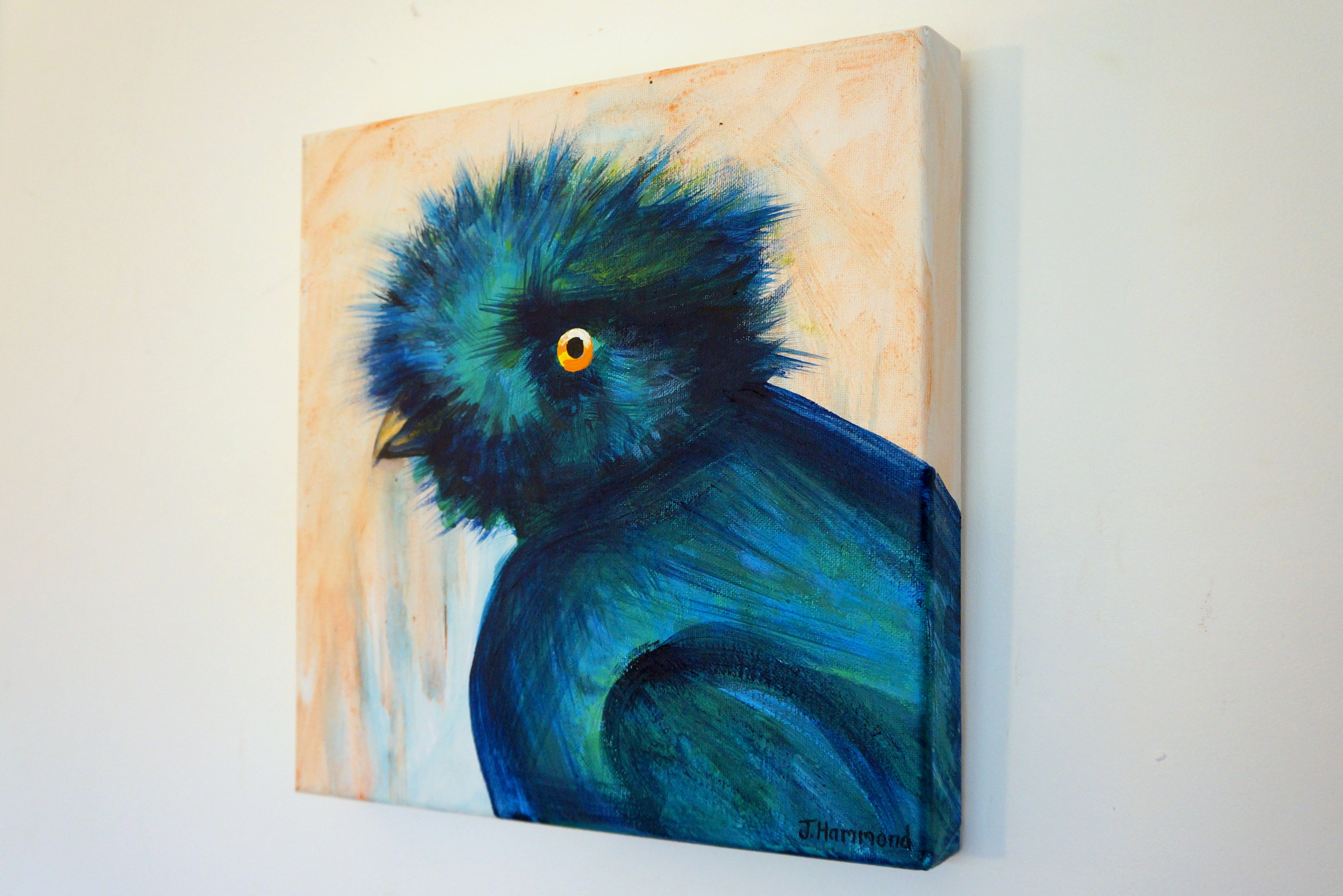 Bad Hair Day - Bird Portrait Painting