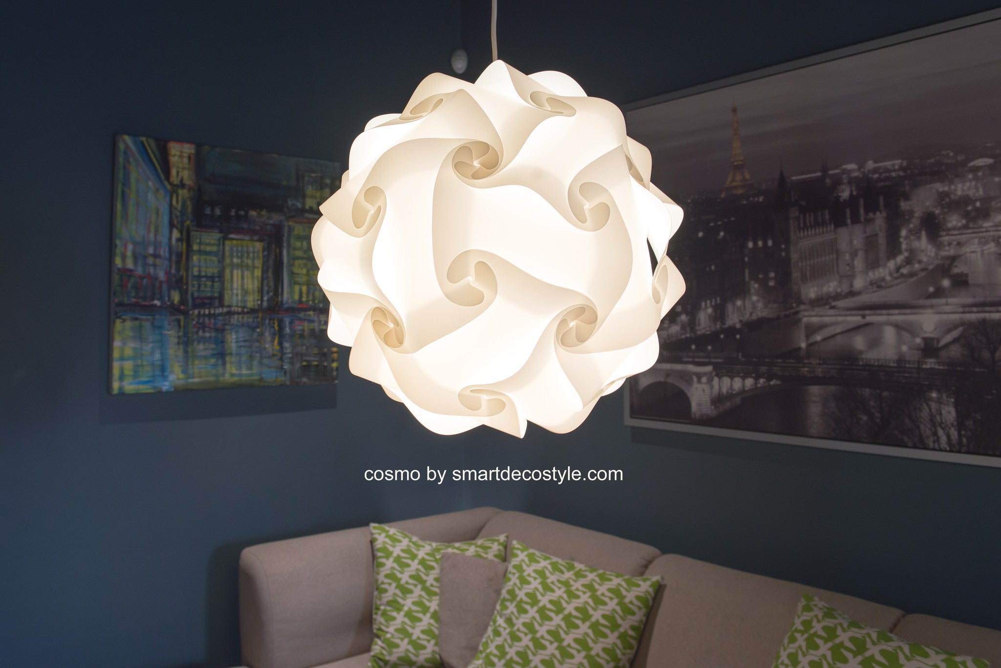 Smarty Lamps Cosmo Light Shade  Smart Deco Homeware Lighting and Art by Jacqueline hammond