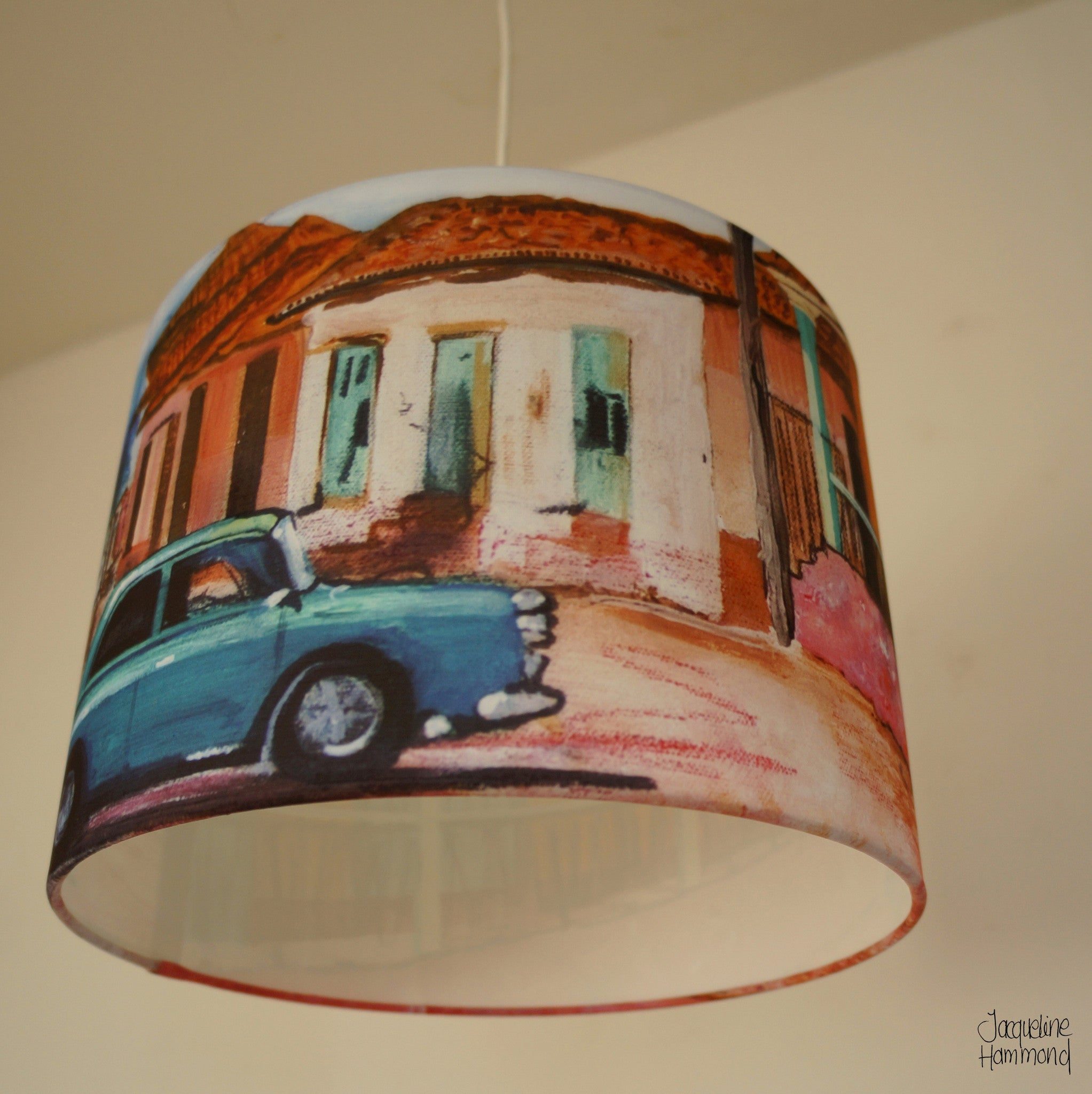 Lamp Shade - Cuban Car  Smart Deco Homeware Lighting and Art by Jacqueline hammond