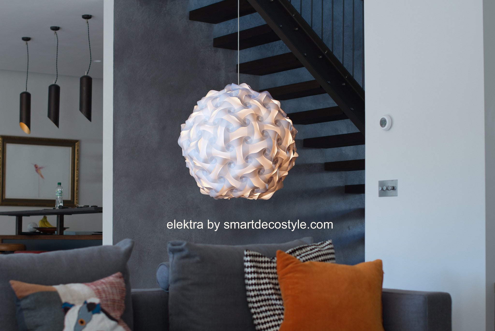 Smarty Lamps Elektra Ceiling Light Shade  Smart Deco Homeware Lighting and Art by Jacqueline hammond