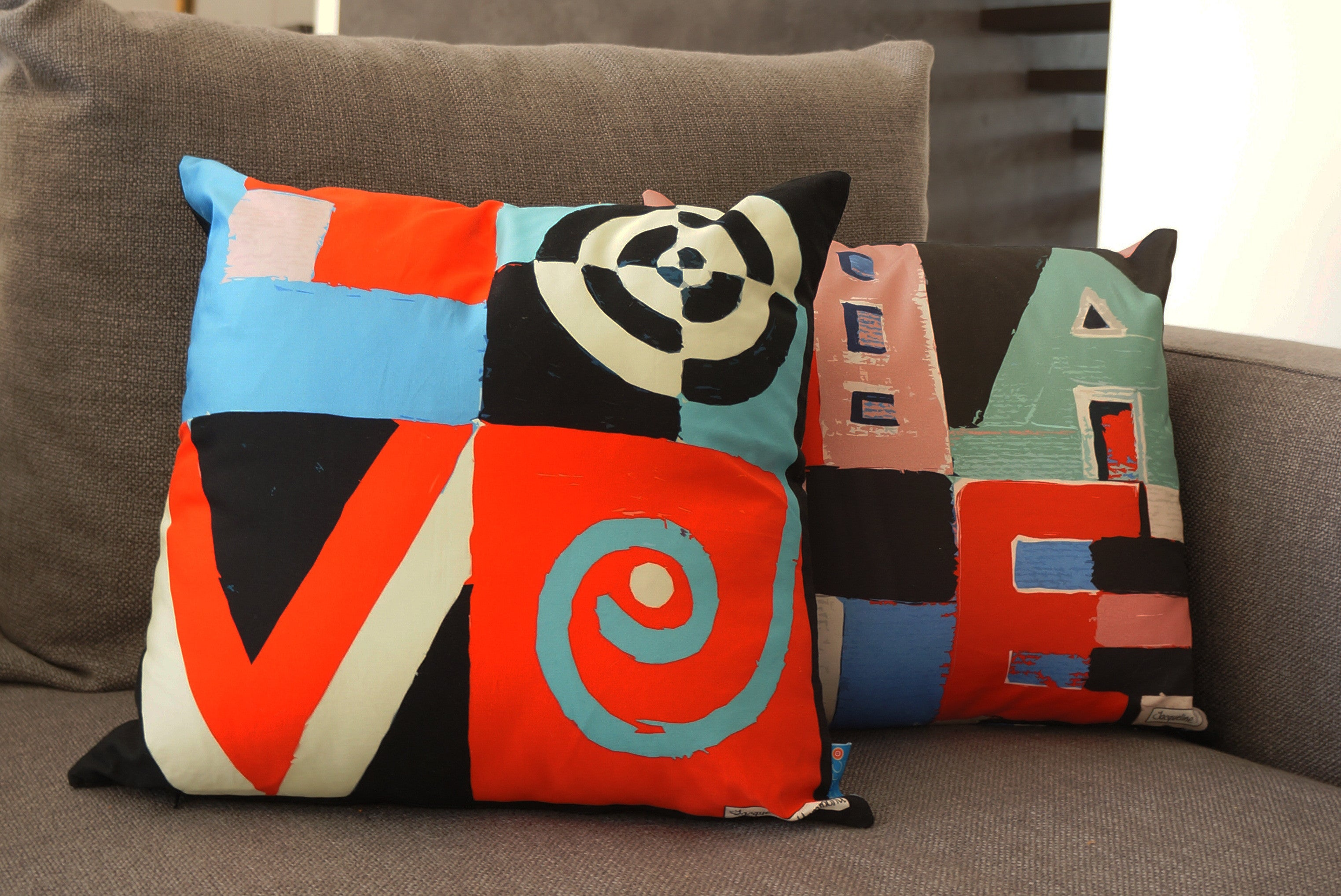 The Love / Hate Double Sided Word Art Cushion