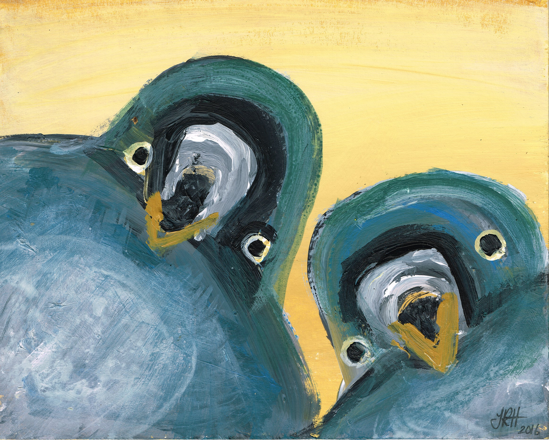 Love Pigeons Painting - Selfie  Smart Deco Homeware Lighting and Art by Jacqueline hammond