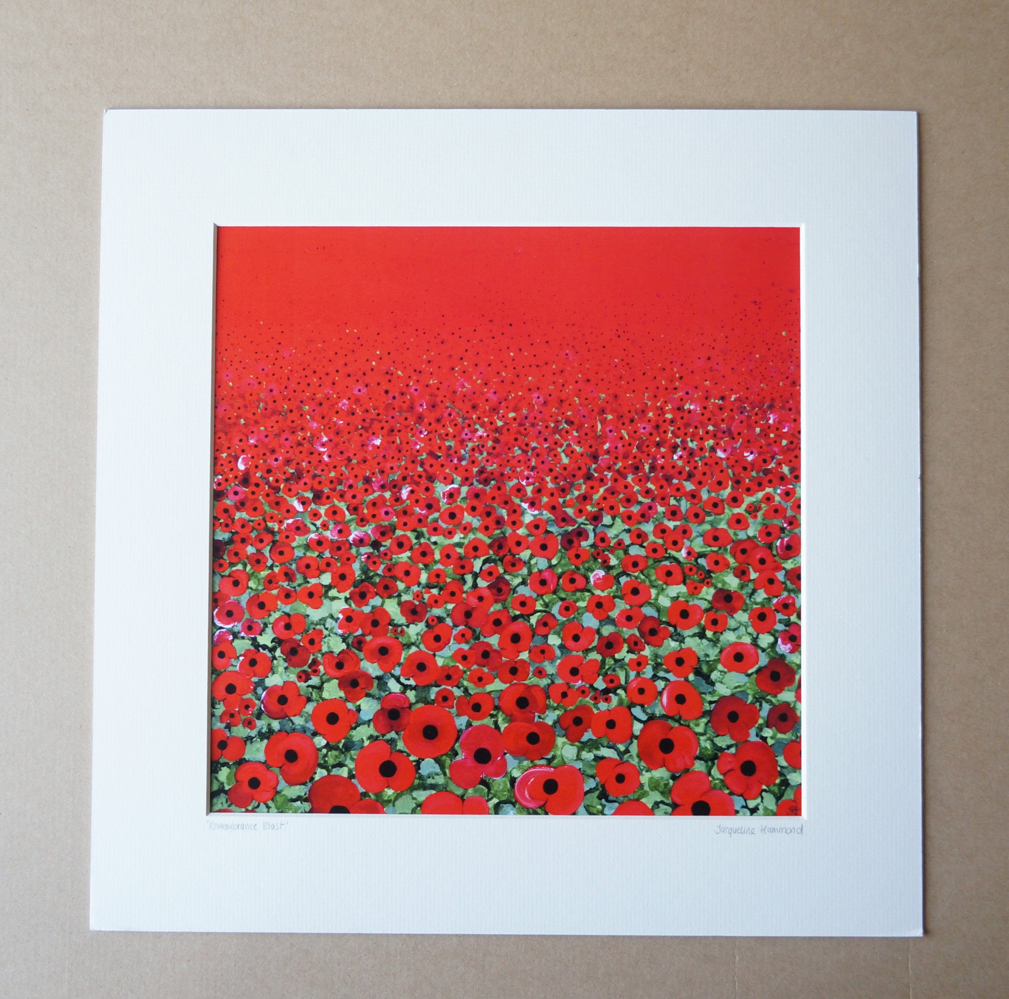 Print of Painting Remembrance Blast By Jacqueline Hammond  Smart Deco Homeware Lighting and Art by Jacqueline hammond