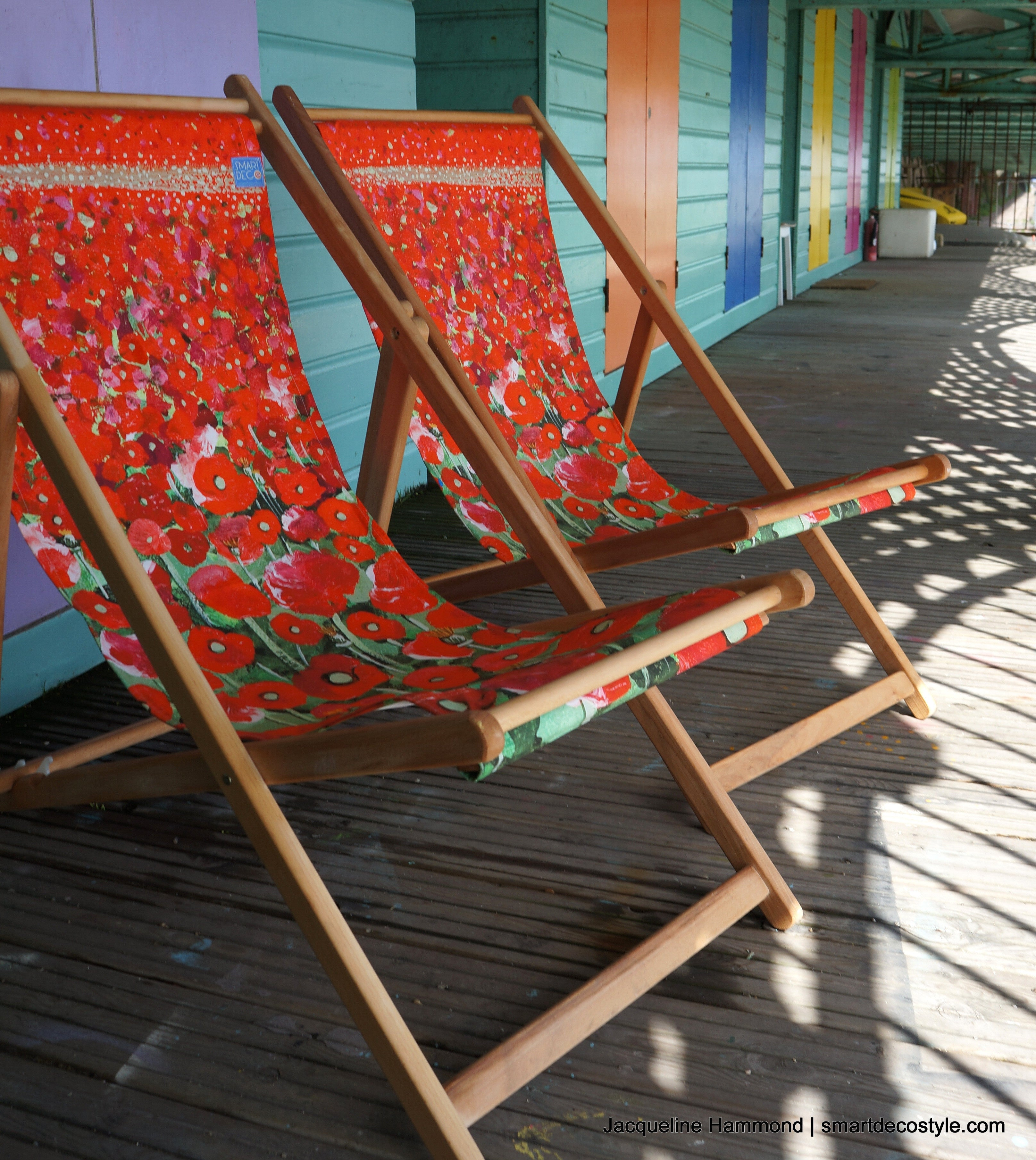 Deckchair - Traditional Seaside - Poppy