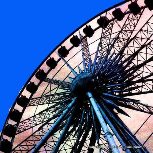 The Brighton Wheel Series - A Wheel Star (Blue)  Smart Deco Homeware Lighting and Art by Jacqueline hammond