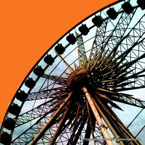 The Brighton Wheel Series - A Wheel Star (Orange)  Smart Deco Homeware Lighting and Art by Jacqueline hammond