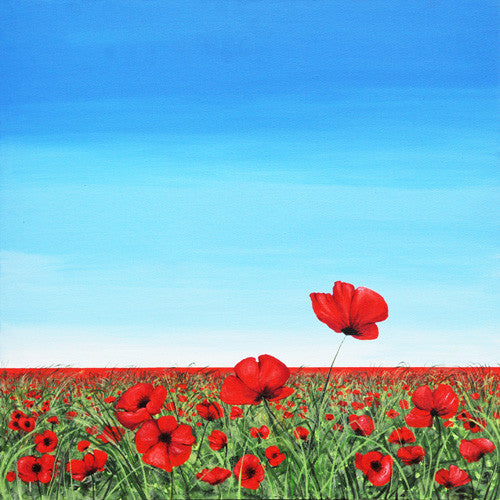 Poppy Series - Breakthrough painting (SOLD)  Smart Deco Homeware Lighting and Art by Jacqueline hammond