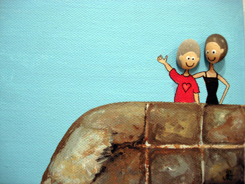 The Pebble Heads - Friends Indeed (SOLD)  Smart Deco Homeware Lighting and Art by Jacqueline hammond