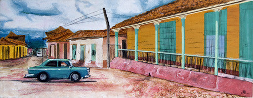 Green Car in Trinidad, Cuba  Smart Deco Homeware Lighting and Art by Jacqueline hammond