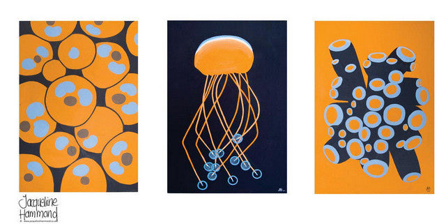 Ceramic Mug - Orange Jellyfish  Smart Deco Homeware Lighting and Art by Jacqueline hammond