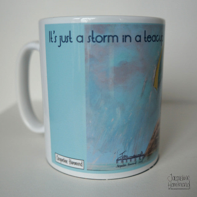 Pebble Heads - Ceramic Mug - It's Just a Storm in a Teacup Dear  Smart Deco Homeware Lighting and Art by Jacqueline hammond