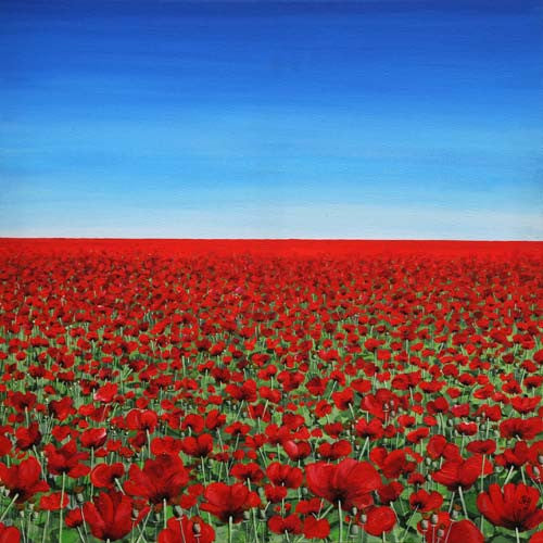 The Signification of the Poppy - Opening Horizon  Smart Deco Homeware Lighting and Art by Jacqueline hammond