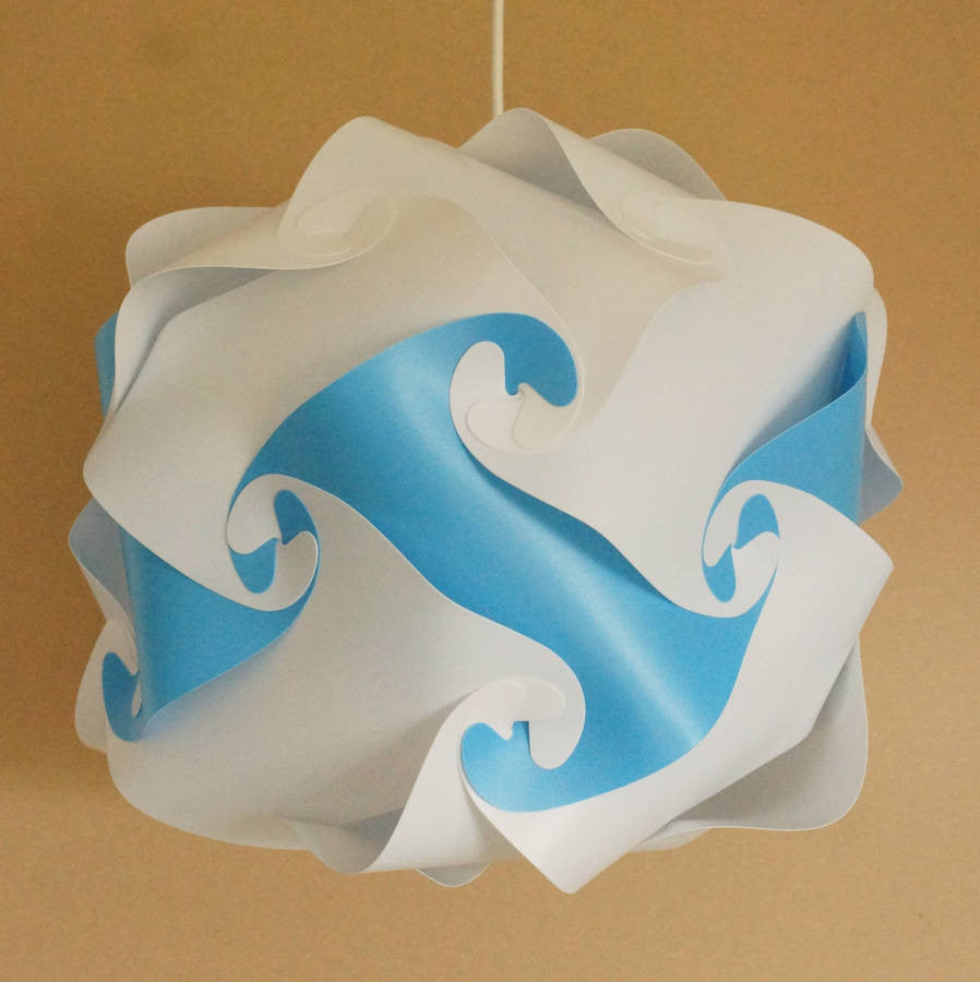 Smarty Lamps Lisbet Blue Light Shade  Smart Deco Homeware Lighting and Art by Jacqueline hammond