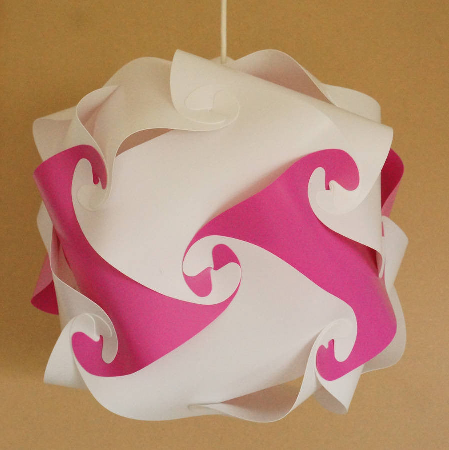 Smarty Lamps Retro Colour Pop Art Lampshade  - Lisbet Pink  Smart Deco Homeware Lighting and Art by Jacqueline hammond