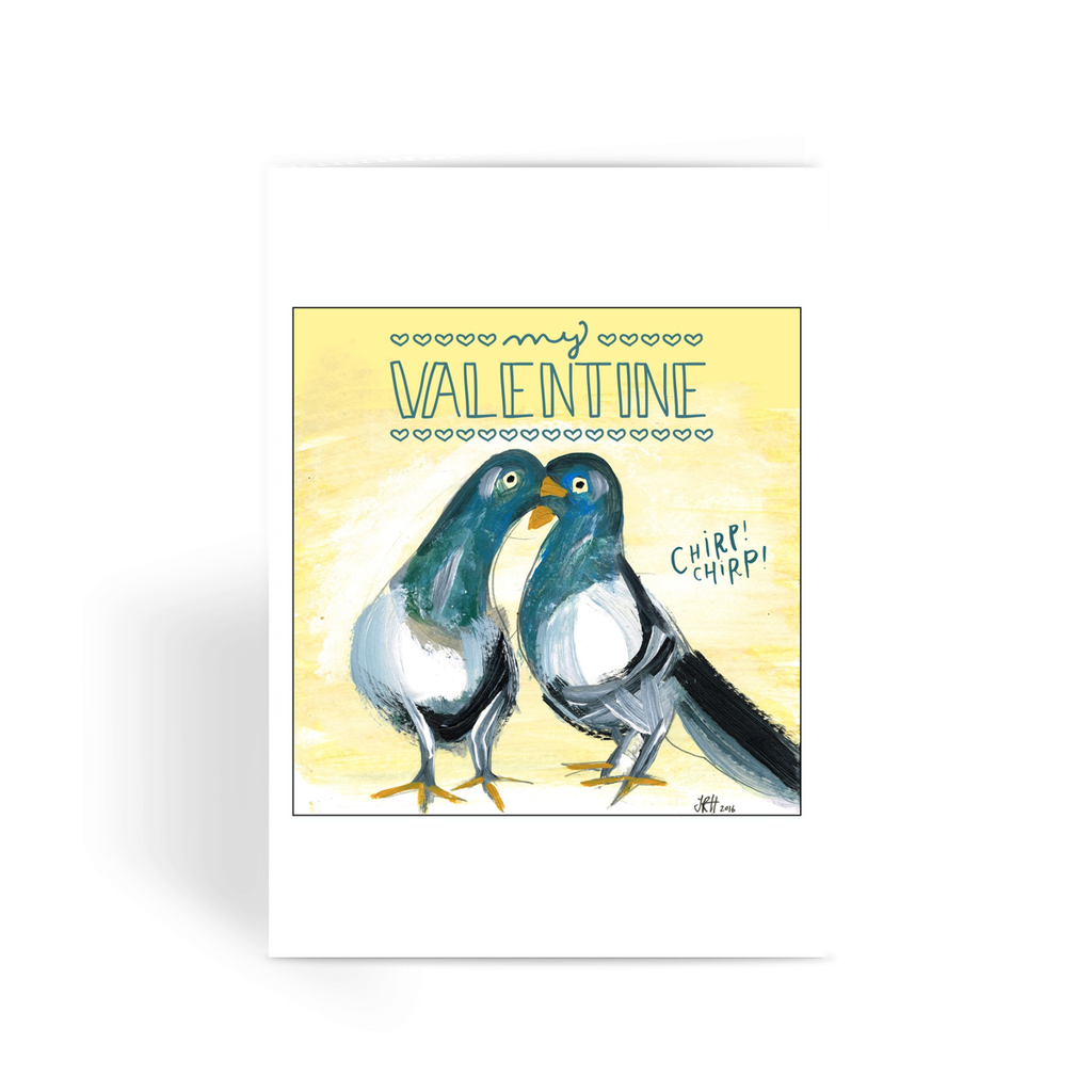 My Valentine Greeting Card  Smart Deco Homeware Lighting and Art by Jacqueline hammond
