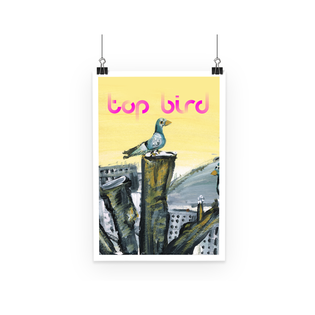 Top Bird Poster  Smart Deco Homeware Lighting and Art by Jacqueline hammond