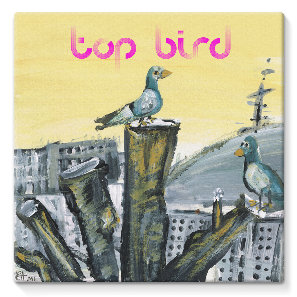 Top Bird Stretched Eco-Canvas  Smart Deco Homeware Lighting and Art by Jacqueline hammond
