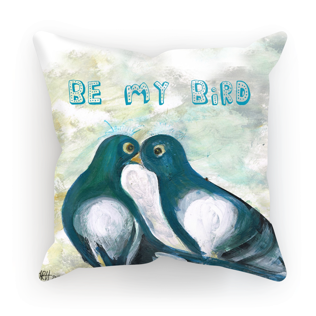 Love Pigeons Cushion  Smart Deco Homeware Lighting and Art by Jacqueline hammond