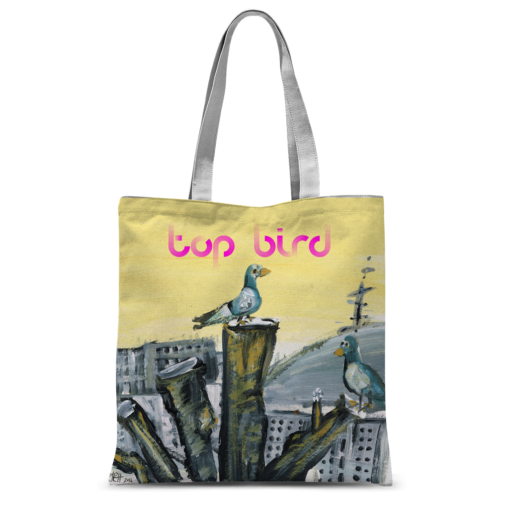 Top Bird Tote Bag  Smart Deco Homeware Lighting and Art by Jacqueline hammond