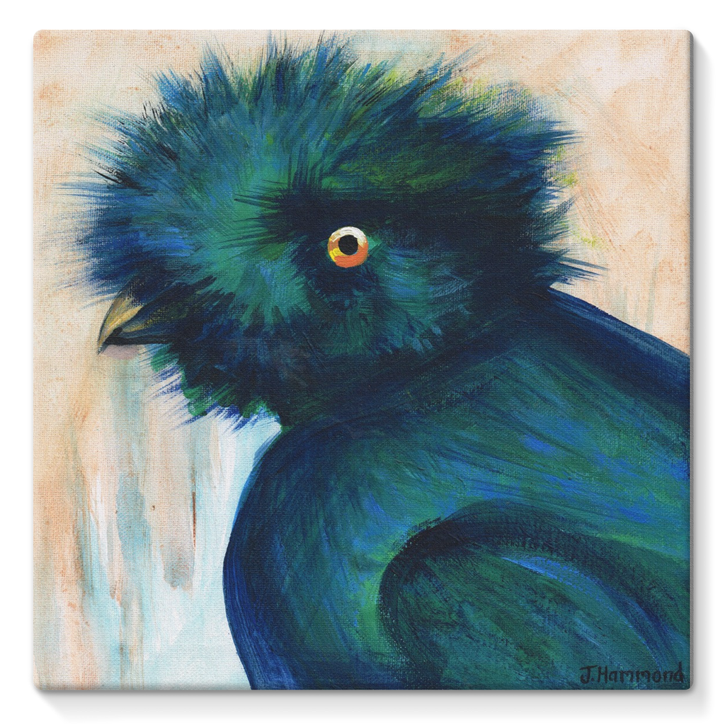 Bad Hair Day Stretched Eco-Canvas