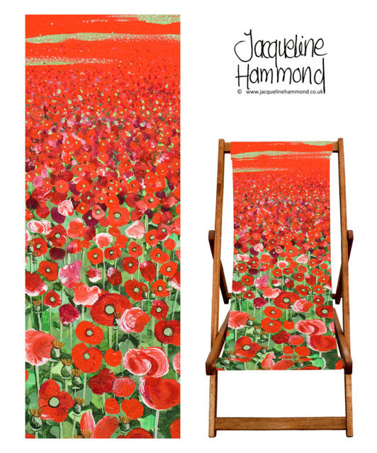 Deckchair - Traditional Seaside - Poppy  Smart Deco Homeware Lighting and Art by Jacqueline hammond