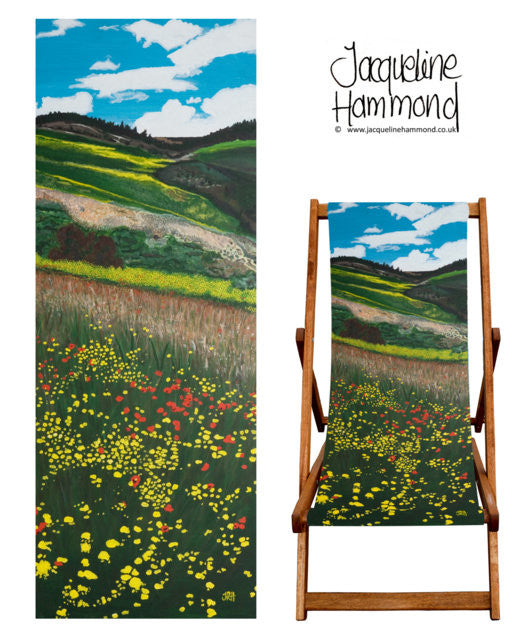 Deckchair - Traditional Seaside - Santa Fe Fields  Smart Deco Homeware Lighting and Art by Jacqueline hammond
