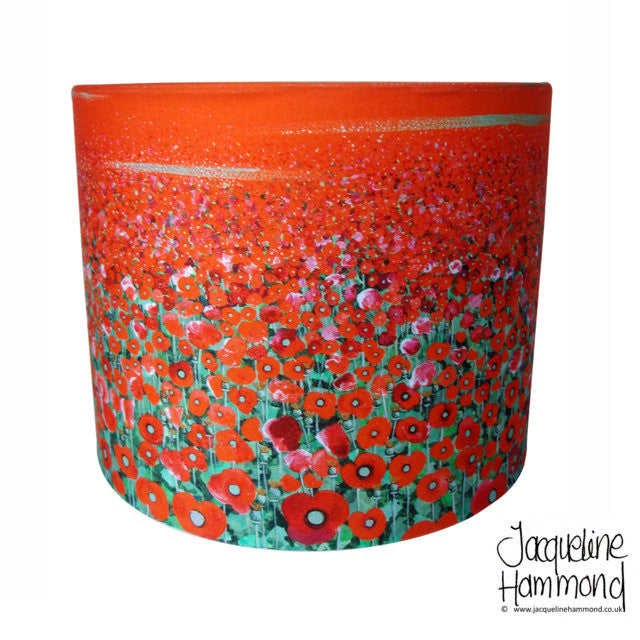 Lamp Shade - Poppy Fields  Smart Deco Homeware Lighting and Art by Jacqueline hammond