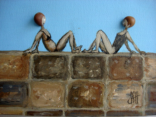 The Pebble Heads - Girls on the Wall  Smart Deco Homeware Lighting and Art by Jacqueline hammond