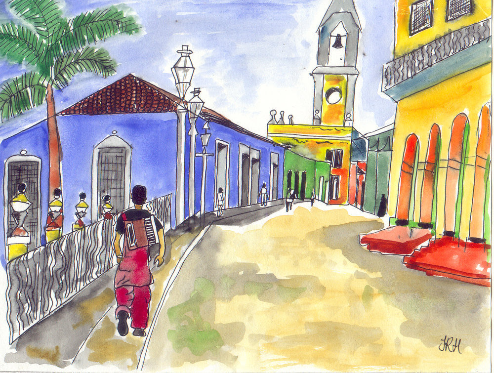 Trinidad Musician - Cuba  Smart Deco Homeware Lighting and Art by Jacqueline hammond