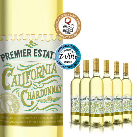 Premier Estates Wine IWSC Award-winning Californian Chardonnay