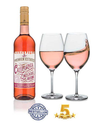 White Zinfandel Rose wine case of 6 bottles