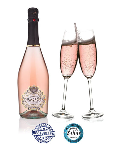 Pink Prosecco Sparkling Rose case of 6 bottles