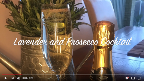 Lavender and Prosecco Cocktail