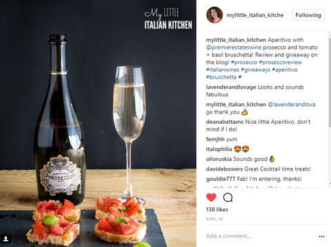 Award Winning Blogger Prosecco
