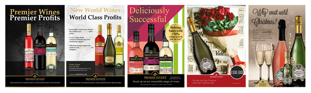 Premier Estates Wine Ad Progression