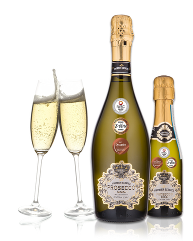 Premier Estates Prosecco DOC Sparkling Wine case of 6 bottles