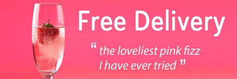 Free delivery on pink prosecco