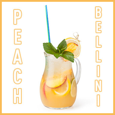 Peach Bellini Prosecco Cocktail