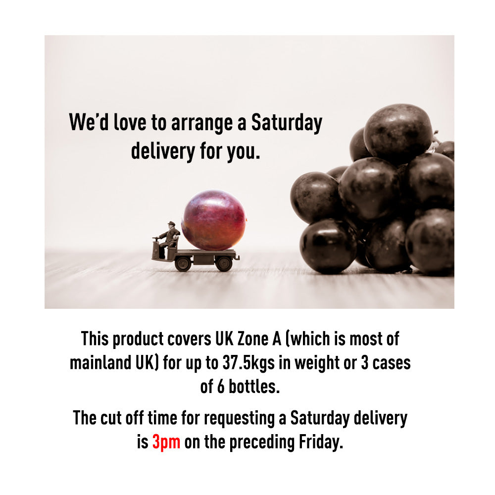 Saturday Delivery UK Zone A (up to 37.5 kg or 3 cases of 6 bottles)