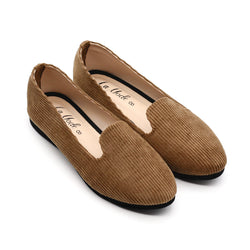 Basic Cord Loafer - Beige