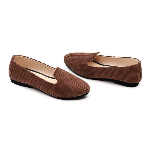 Basic Cord Loafer- Chocolate