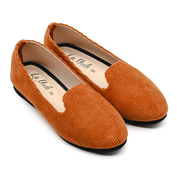 Basic Cord Loafer- Mustard